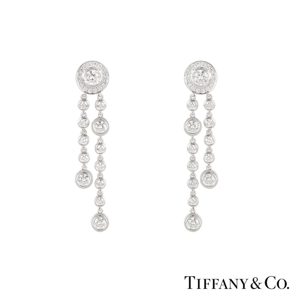 Tiffany & Co. Platinum Diamond Circlet Earrings